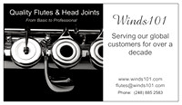 Winds101 business card